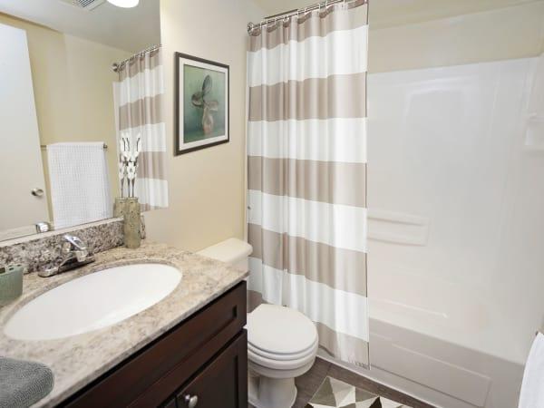 Bathroom at Quail Hollow Apartment Homes in Glen Burnie, Maryland