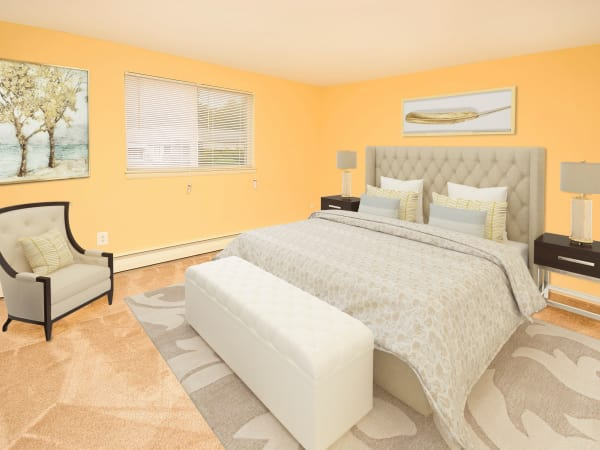 Beautiful Bedroom at Warwick Terrace Apartment Homes in Somerdale, New Jersey