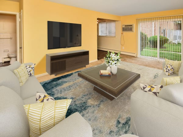 Beautiful Living Room at Warwick Terrace Apartment Homes in Somerdale, New Jersey