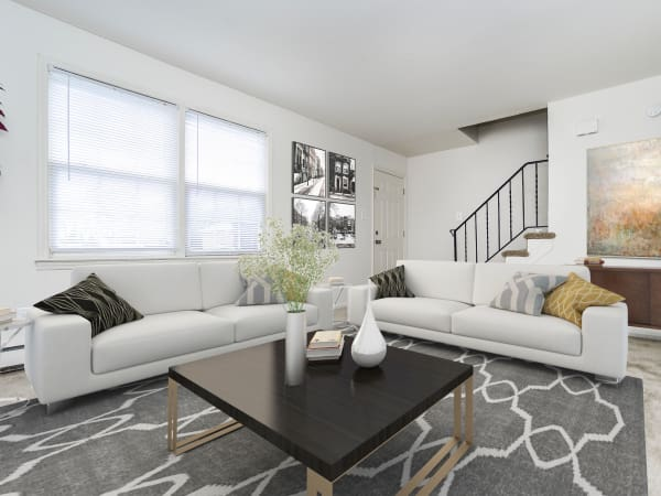 Spacious Living Room at Vineland Village Apartment Homes in Vineland, New Jersey