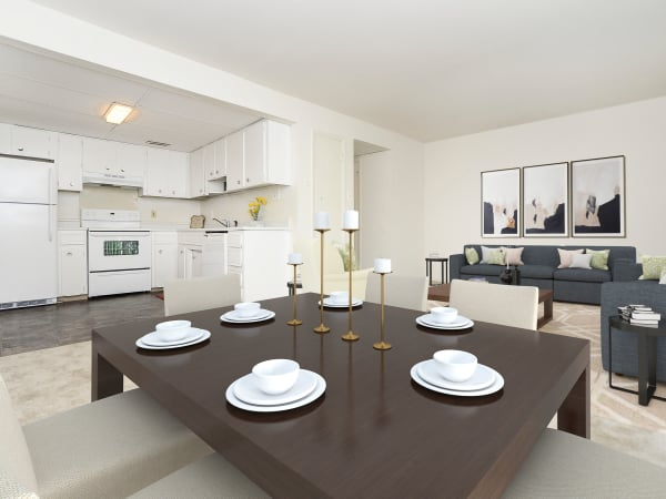 Beautiful Dining Room at Vineland Village Apartment Homes in Vineland, New Jersey