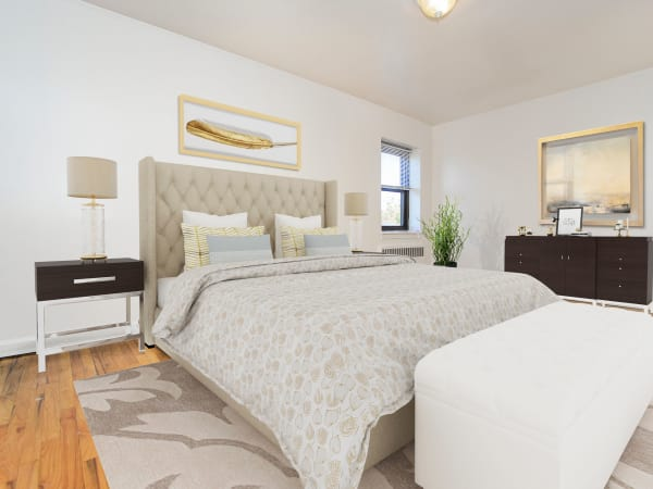 Spacious Bedroom at Market Street Apartment Homes in Perth Amboy, New Jersey