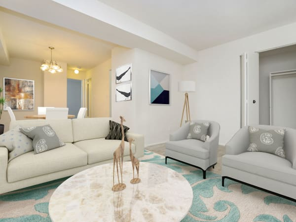 Beautiful Living Room at Arbors at Edenbridge Apartments & Townhomes in Parkville, Maryland