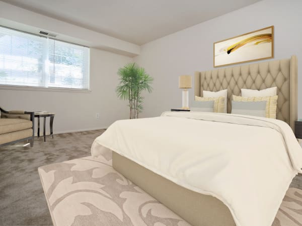 Beautiful Bedroom at Arbors at Edenbridge Apartments & Townhomes in Parkville, MD