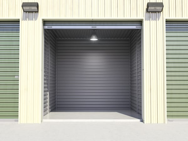 Self storage unit model at Lohman Self Storage in Las Cruces, New Mexico