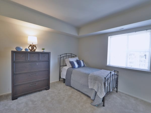 Bedroom at The Willows Apartment Homes in Glen Burnie, Maryland
