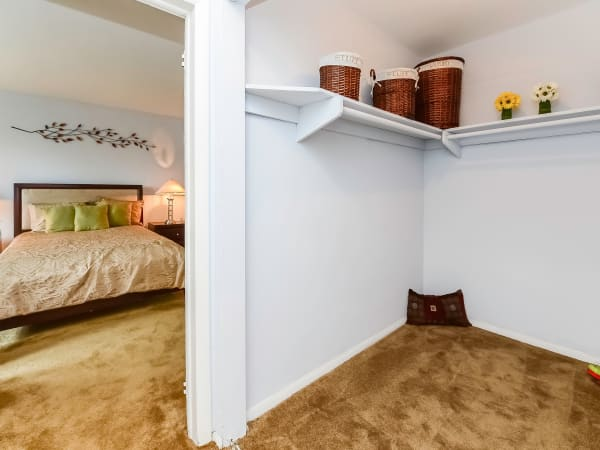 Walk-in Closets at Apartments in Bellmawr, New Jersey