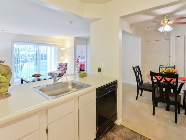 Kitchen at The Landings Apartment Homes in Absecon, New Jersey