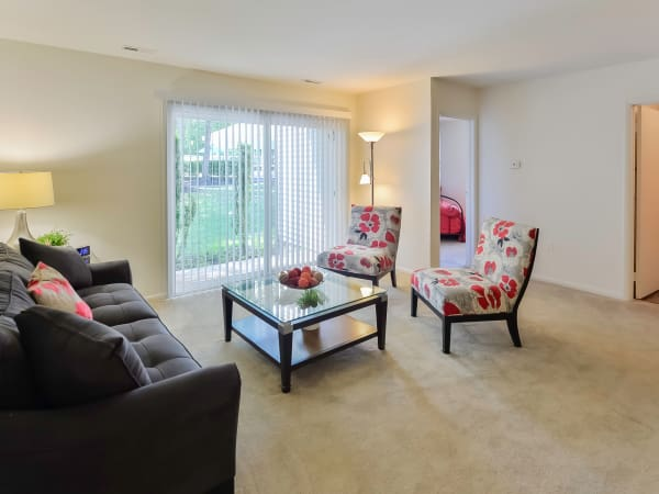 Living Room at The Landings Apartment Homes in Absecon, New Jersey