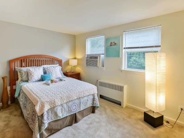 Model bedroom at Wedgewood Hills Apartment Homes in Harrisburg, PA
