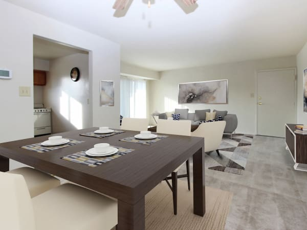 Beautiful Dining Area & Living Room at Glen Mar Apartment Homes in Glen Burnie, Maryland