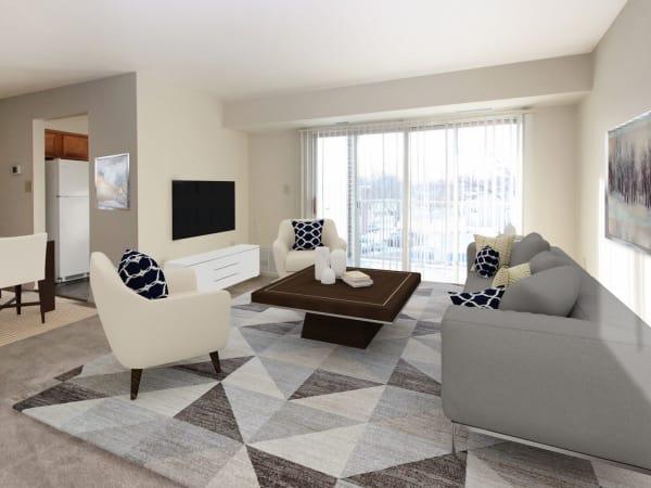 Beautiful Living Room at Glen Mar Apartment Homes in Glen Burnie, Maryland