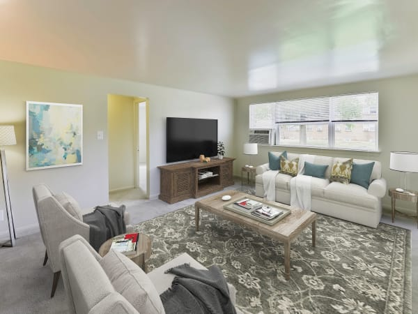 Spacious Living Room at Wedgewood Hills Apartment Homes in Harrisburg, PA