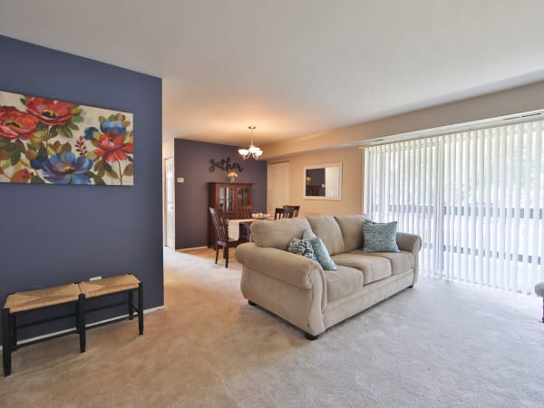 Living Room at The Preserve at Owings Crossing Apartment Homes in Reisterstown, Maryland