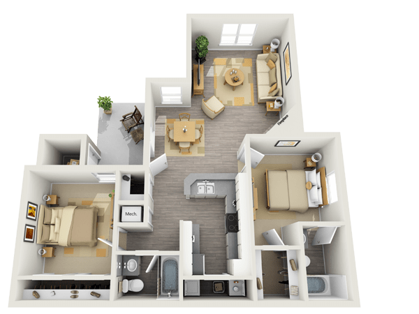 Spacious 2-Bedroom Apartment at Keystone Apartments in Northglenn, Colorado