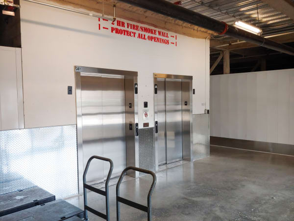 Dollies and elevator access available at StorQuest Self Storage in North Miami Beach, Florida