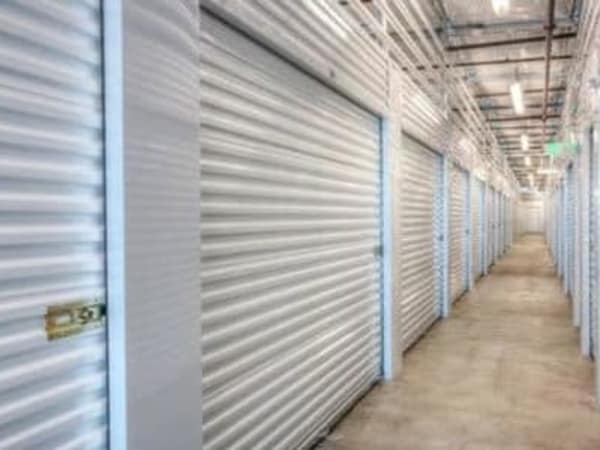 Hallway of units at StorQuest Self Storage in Escondido, California