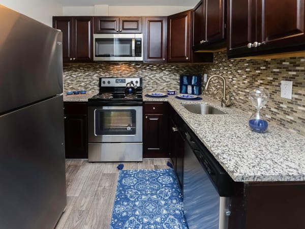 Kitchen at Hyde Park Apartment Homes in Bellmawr, New Jersey