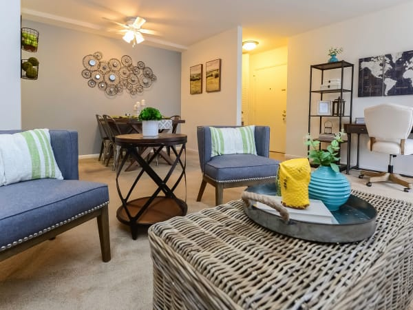 Beautiful Living Room at Main Street Apartment Homes in Lansdale, Pennsylvania