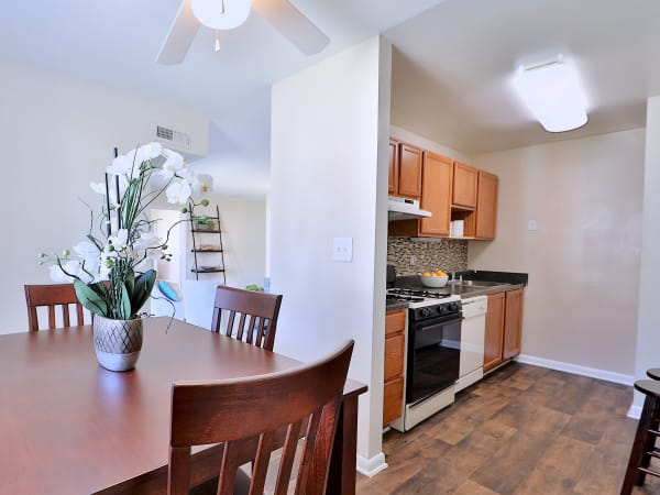 Kitchen & Dining Room at Cedar Creek Apartment Homes in Glen Burnie, Maryland