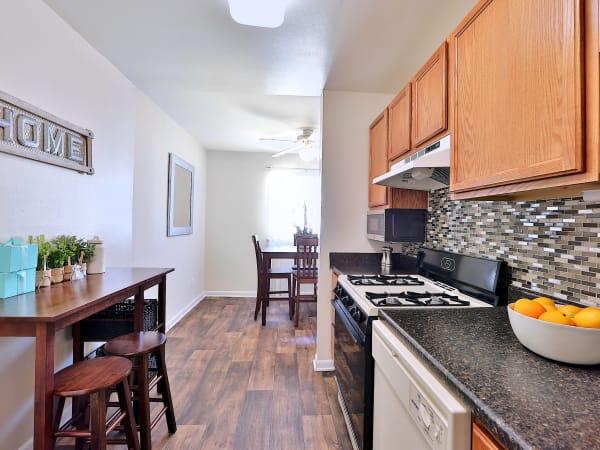 Kitchen at Cedar Creek Apartment Homes in Glen Burnie, Maryland