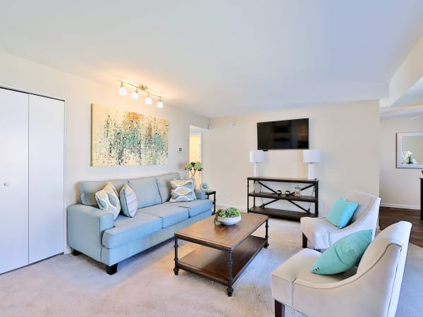Living Room at Cedar Creek Apartment Homes in Glen Burnie, Maryland