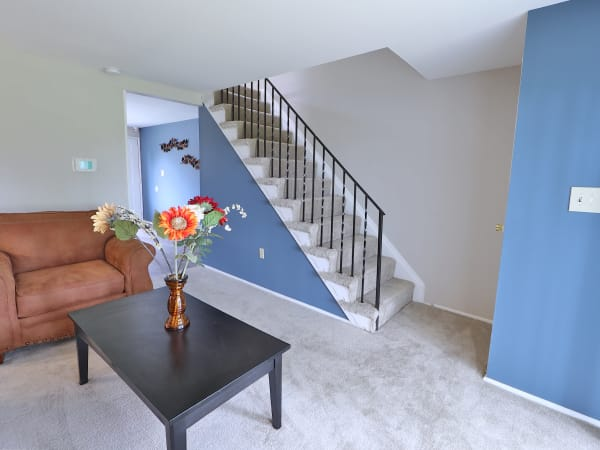Living Room at Townhomes in Baltimore, MD