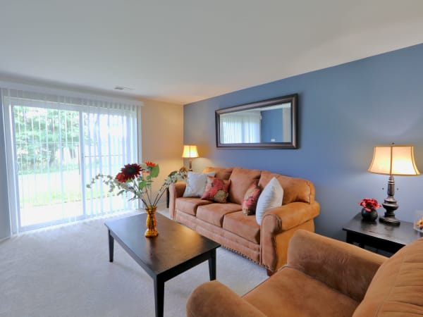Living Room at Townhomes in Baltimore, Maryland