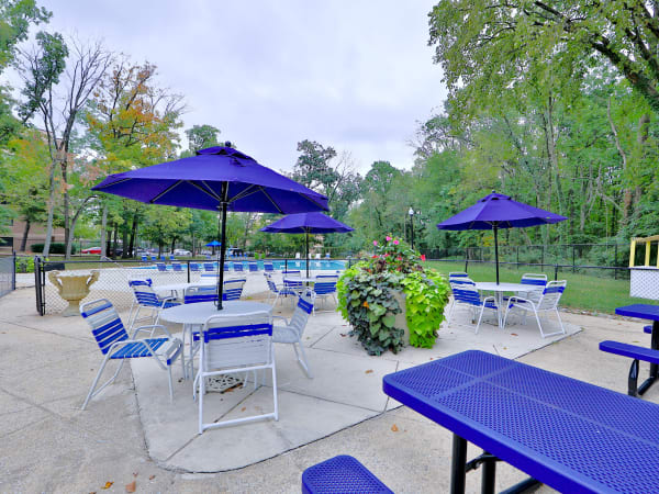 Swimming Pool & Outdoor Lounge at The Reserve at Greenspring in Baltimore, Maryland
