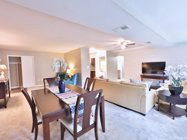 Dining Area & Living Room at The Reserve at Greenspring in Baltimore, Maryland