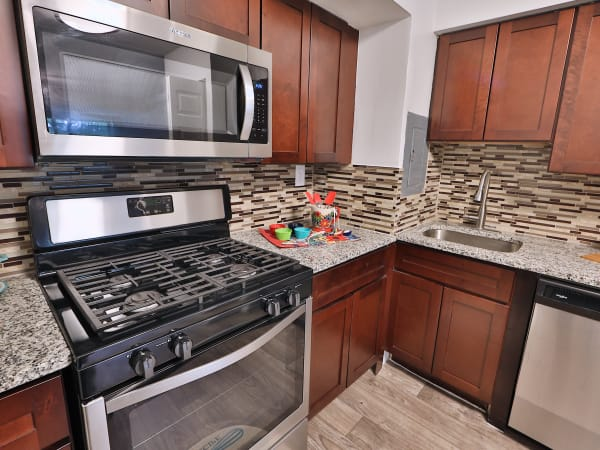 Modern Kitchen at The Reserve at Greenspring in Baltimore, Maryland