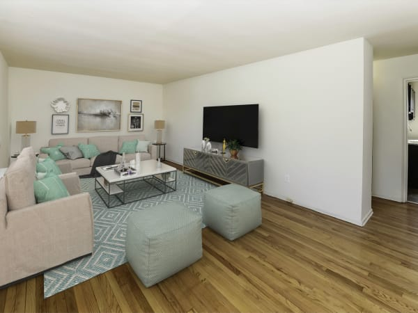 Spacious Living Room at Elmwood Village Apartments & Townhomes in Elmwood Park, New Jersey