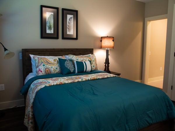 Bedroom with private bathroom at Westminster Memory Care in Aiken, South Carolina