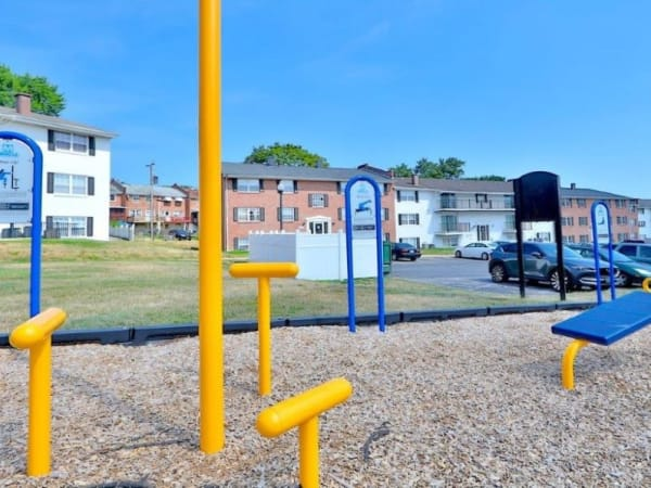 Outdoor Gym at Towson Crossing Apartment Homes in Baltimore, MD