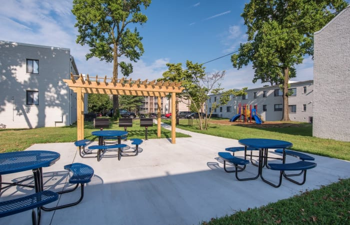 Great areas for picnicking and BBQing at The Residences at Silver Hill in Suitland, MD