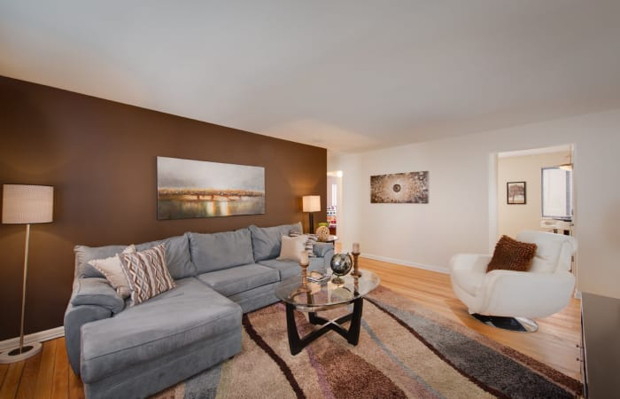 Open-concept living space in model home at The Residences at Silver Hill in Suitland, MD