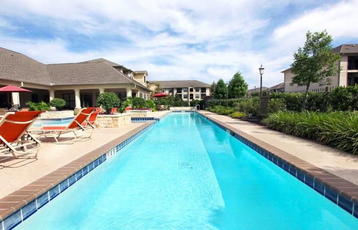 Lap lane in the swimming pool at Camden Lake Apartments in Baton Rouge, LA
