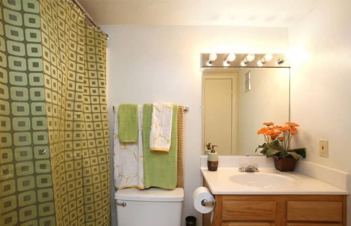 Bathroom example at The Residences at Forest Grove in Newport News, Virginia
