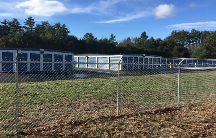Self storage with clean exterior storage units at Safe Storage in East Baldwin, Maine