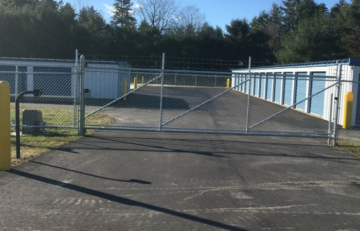 Safe Storage features fully fenced exterior storage units in East Baldwin, Maine