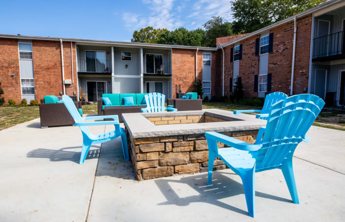 Fire pit at The Residences at Forest Grove in Newport News, Virginia