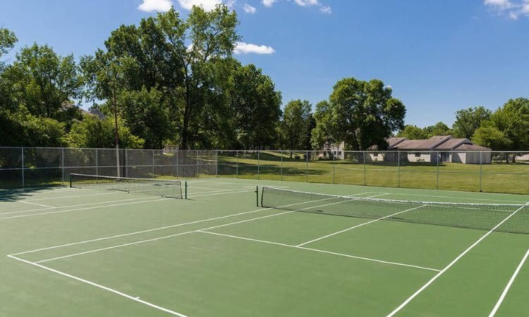 Penbrooke Meadows' tennis court in Penfield, New York