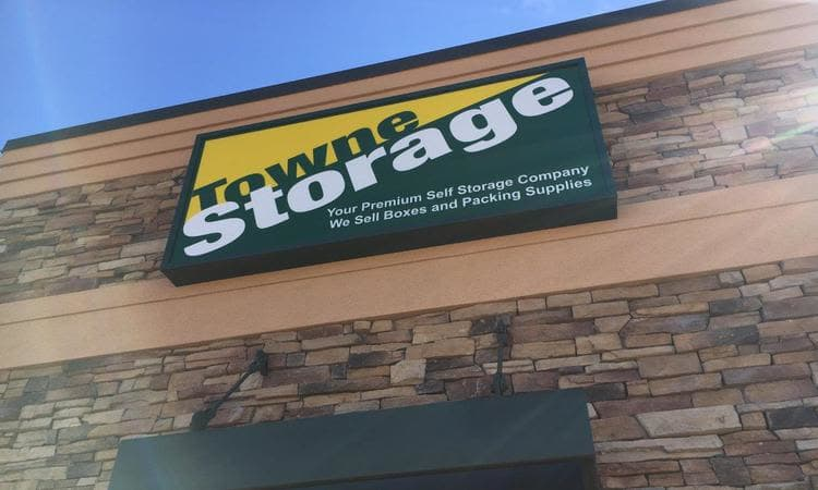 Wall Banner our new location at Towne Storage in Riverton, UT