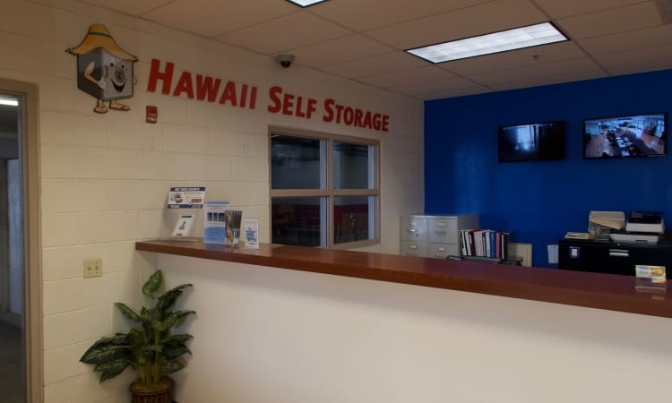 Interior office view of Hawai'i Self Storage in Pearl City