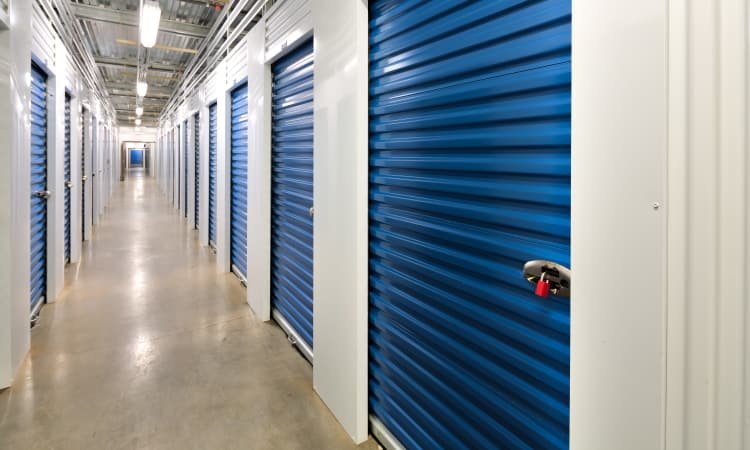 Clean and well-lit interior self storage units at Hawai'i Self Storage