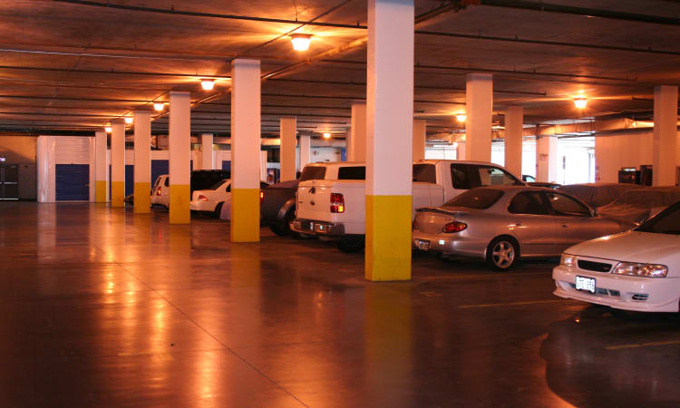 Ssecure, underground parking for your precious vehicles at Hawai'i Self Storage