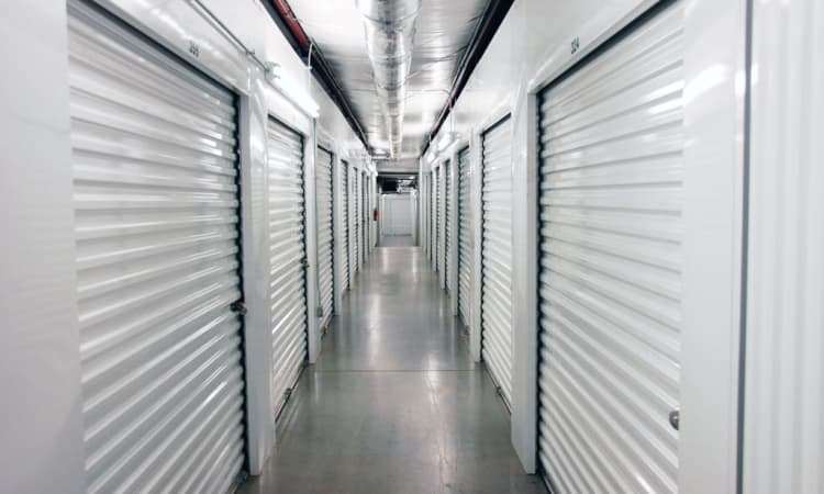 Indoor storage units at Anchor Self Storage of Cornelius in Cornelius
