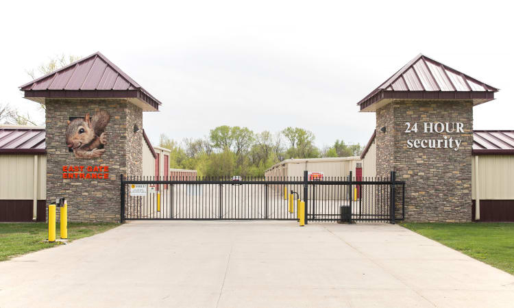 East Gate Entrance at Squirrel Storage Ames in Ames