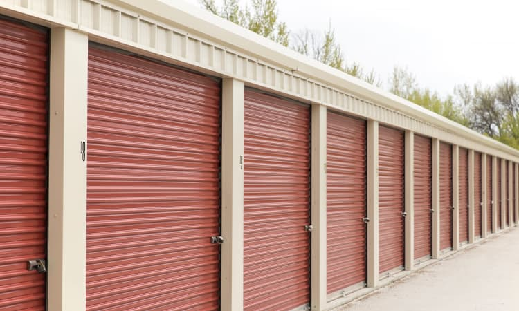Outdoor storage at Squirrel Storage Ames in Ames