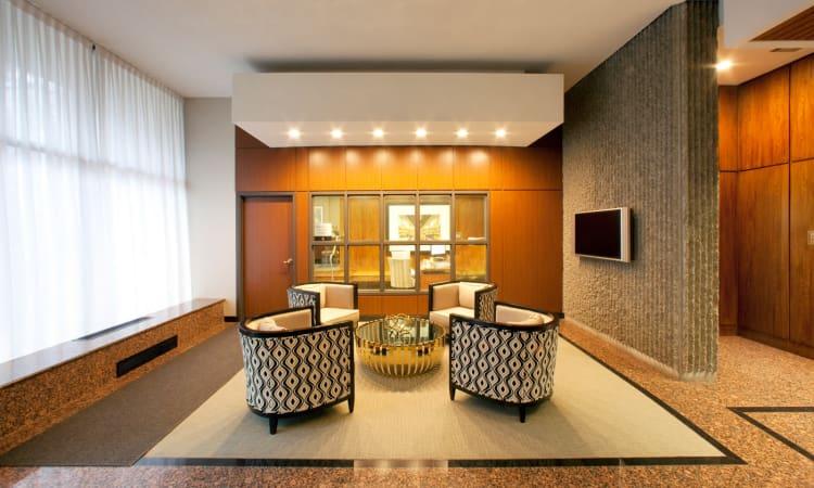 Lobby area at Widdicombe Place in Etobicoke